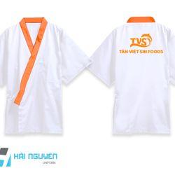 Đồng phục bếp kiểu Nhật in logo giá sỉ