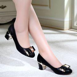 Giày gót vuông cao cấp- G6873