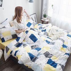 Bộ Chăn Ga Gối Cotton Lụa Hàn Quốc CL116 giá sỉ