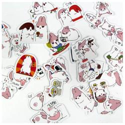 Bộ 40 tấm sticker trang trí hình thỏ dễ thương