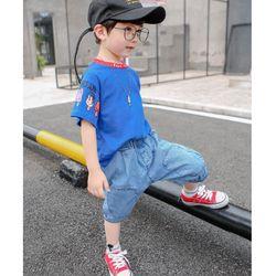 Set áo thun quần jean phong cách năng động giá sỉ