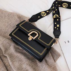 Túi xách đeo chéo viền thêu dây bản to giá sỉ