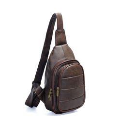 Túi đeo chéo CNT unisex MQ19 cá tính NÂU giá sỉ