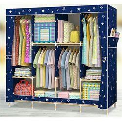 Tủ vải khung gỗ 4 buồng 8 ngăn cao cấp