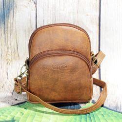 Túi đeo chéo nữ CNT TĐX 39 sành điệu BÒ ĐẬM giá sỉ