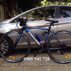 xe đạp Chevelo khung nhôm màu xanh dương