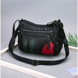 Túi xách đeo chéo da mềm vạt đỏ giá sỉ, giá bán buôn