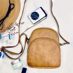 Túi đeo chéo nữ CNT TĐX 39 sành điệu BÒ LỢT giá sỉ