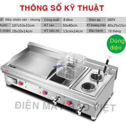 Bếp chiên nhúng – phẳng 1 phẳng 2 nhúng dùng điện - Máy Bảo Việt giá sỉ