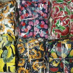 Bộ hoa quả nam nữ freesize chất liệu kate thái hàng Việt nam giá sỉ