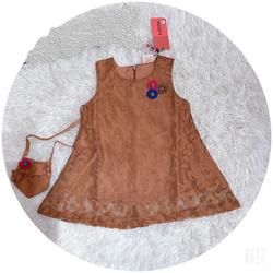 Đầm ren bé gái giãn đính bông 1-6 giá sỉ, giá bán buôn