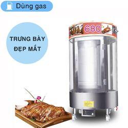 Lò quay vịt kính xoay 680 dùng gas - Máy Bảo Việt giá sỉ