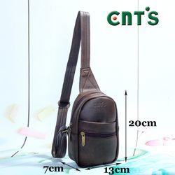 Túi đeo chéo unisex CNT MQ23 nâu giá sỉ
