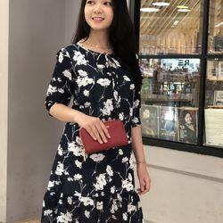 Đầm suông họa tiết MS330 Có 2 màu giá sỉ