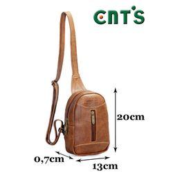 Túi đeo chéo unisex CNT MQ22 cá tính bò đậm giá sỉ