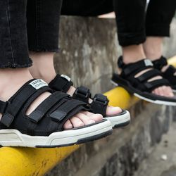 Giày sandal nam nữ mã sp 6212 Đen - Trắng - Ghi giá sỉ