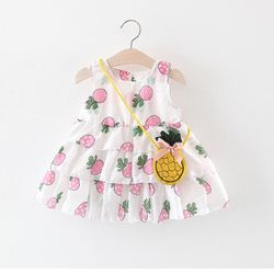 Váy voan 3 tầng hình quả dứa kèm túi dễ thương giá sỉ