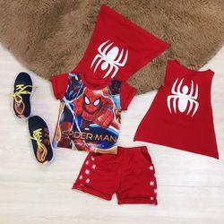 Siêu phẩm mùa hè Bung lo bé trai in 3d nhện áo choàng Chất thun cotton và thun lạnh mát mịn Hàng bao đẹp Sz 1-8 Msgr giá sỉ