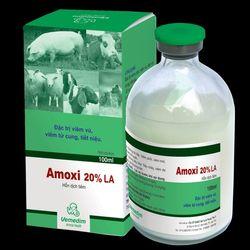 AMOXI 20 LA Đặc trị viêm phổi viêm vú viêm tử cung tiết niệu Tác động kéo dài 48 giờ giá sỉ