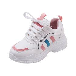 Giày nữ độn đế đường viên màu cá tính trẻ trung D2523 giá sỉ