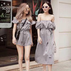 váy đẹp chất cá tính dễ thương giá rẻ kẻ caro BN 84952 Kèm Ảnh Thật giá sỉ