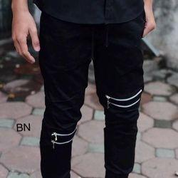 quần kaki nam công sở đẹp màu đen trắng giá rẻ khóa gối chun gấu BN 04628 Kèm Ảnh Thật giá sỉ