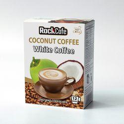 CÀ PHÊ DỪA - THỨC UỐNG HOT NHẤT HÈ NÀY Rockcafe White Coffee - Hộp 12 gói x 20g giá sỉ