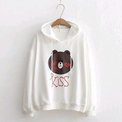 Áo hoodie thêu hình gấu kissy giá sỉ