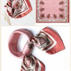 Khăn Lụa Satin Vuông Màu Hồng - Mã ST056 giá sỉ