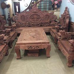 Bộ Bàn ghế Đồng Kỵ Siêu khủng Rồng Đỉnh Gỗ Hương Đỏ Lào giá sỉ