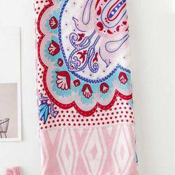Khăn Choàng Cổ Họa Tiết Thổ Cầm Hồng - Cotton Viscose - 180x90cm - Mã KC113 giá sỉ