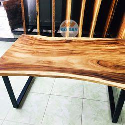 Mặt bàn gỗ me tây tự nhiên dài 1m5 giá sỉ