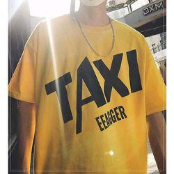Áo thun tay lỡ in taxi giá sỉ