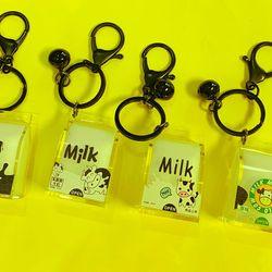 móc khóa nước sữa con bò chuông mini giá sỉ
