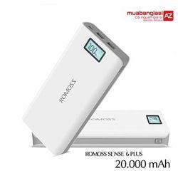 Pin dự phòng Romoss 20000mAh Sense 6P - CÓ LCD giá sỉ