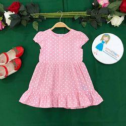Váy đầm dạo phố annachipla châm bi hồng tay con P1793 giá sỉ