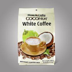 CÀ PHÊ DỪA - THỨC UỐNG HOT NHẤT HÈ NÀY Rockcafe White Coffee - Bao 30 gói x 20g