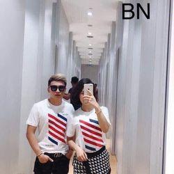 Áo phông đôi đẹp hàn quốc rộng cá tính mùa hè levo giá 1cặp BN 55506 Kèm Ảnh Thật giá sỉ