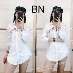 áo sơ mi nữ đẹp hàn quốc kiểu công sở điệu bemy VLTN BN 44184 Kèm Ảnh Thật giá sỉ
