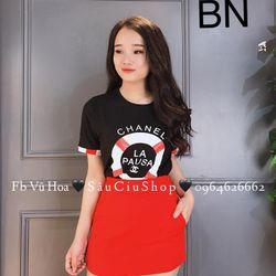áo thun nữ đẹp kiểu hàn quốc form rộng giá rẻ đính đá pausa BN 74691 Kèm Ảnh Thật giá sỉ