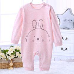 Áo liền quần cho bé cotton thun thoáng mát hình mặt cười đáng yêu 113 giá sỉ