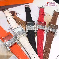 Đồng hồ Hermes dây da giá sỉ