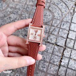 Đồng hồ dây da vuông đủ dây màu giá sỉ