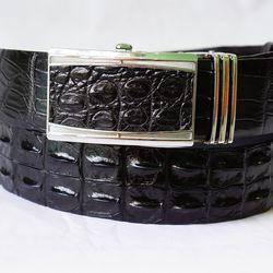 Thắt Lưng Da Cá Sấu 4F - Màu Đen - TLCS001-DEN4F
