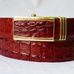 Thắt Lưng Da Cá Sấu - Màu Nâu Đỏ 35F - TLCS001-NDO35F giá sỉ