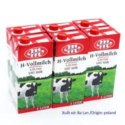 Sữa tươi Mlekovita tiệt trùng 35 béo từ Balan 12 hộp/thùng giá sỉ