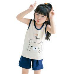 Bộ đồ cho bé gái hình thú chất liệu thun cotton tháng mát 105 giá sỉ