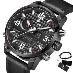 Đồng hồ nam WWOOR 8859 kết hợp hoàn hảo giữa kim và điện tử giá sỉ