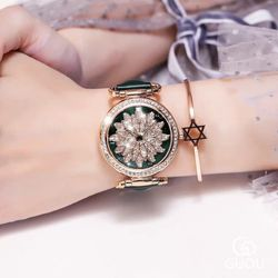 Đồng hồ nữ GUOU 6020 mặt xoay