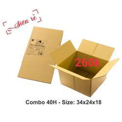 40 thùng carton 34-24-18